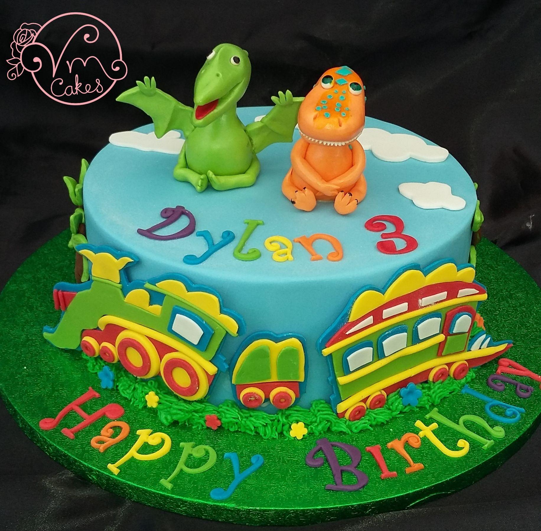 Dinosaur Train Theme Celebration Cake With Images Train