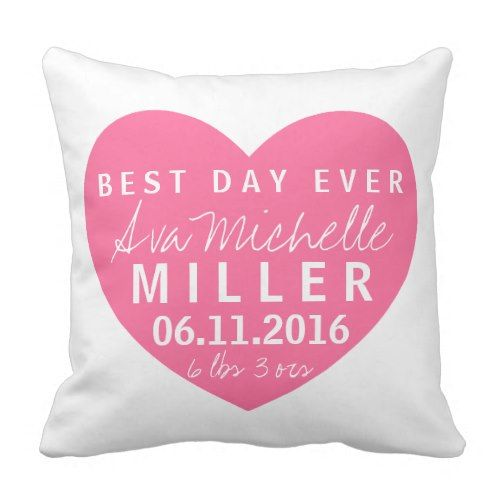 Greatest Day Ever Child Woman Start Stats Pillow.  Figure out even more at the photo link