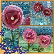 Organza flower cards.