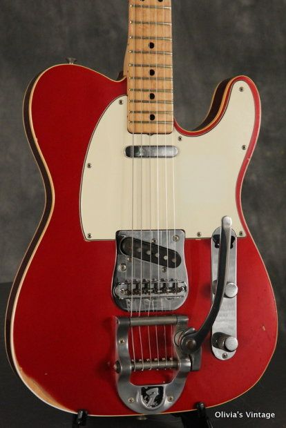 quality design 38963 c8194 extremely rare 1972 Fender double bound Custom Telecaster in its original  CANDY APPLE RED custom color finish and factory Bigsby vibrato.