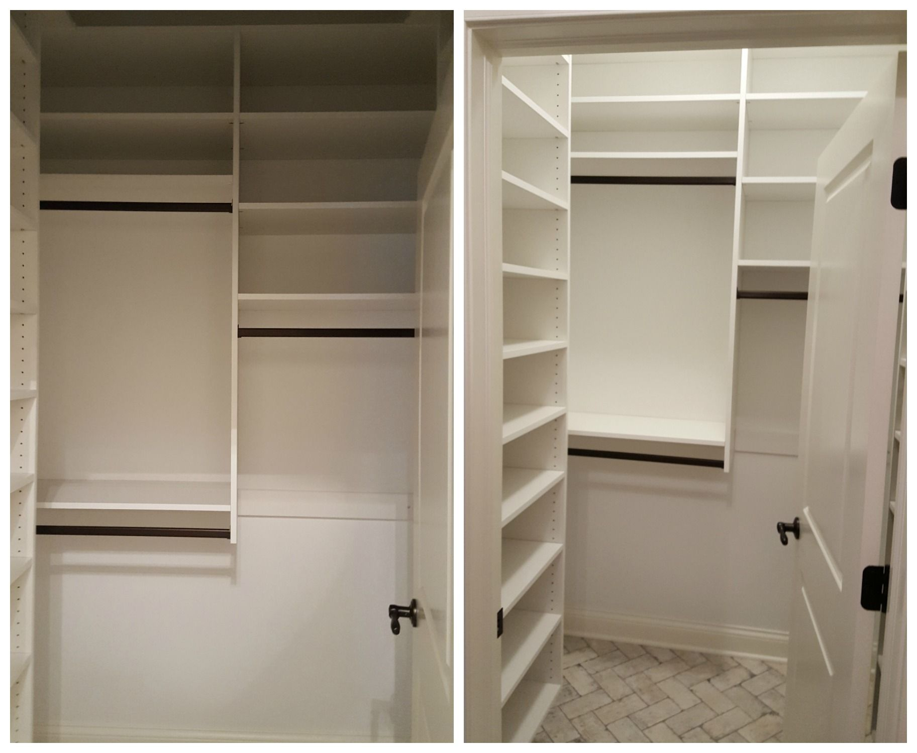 White Melamine Closet With Adjule