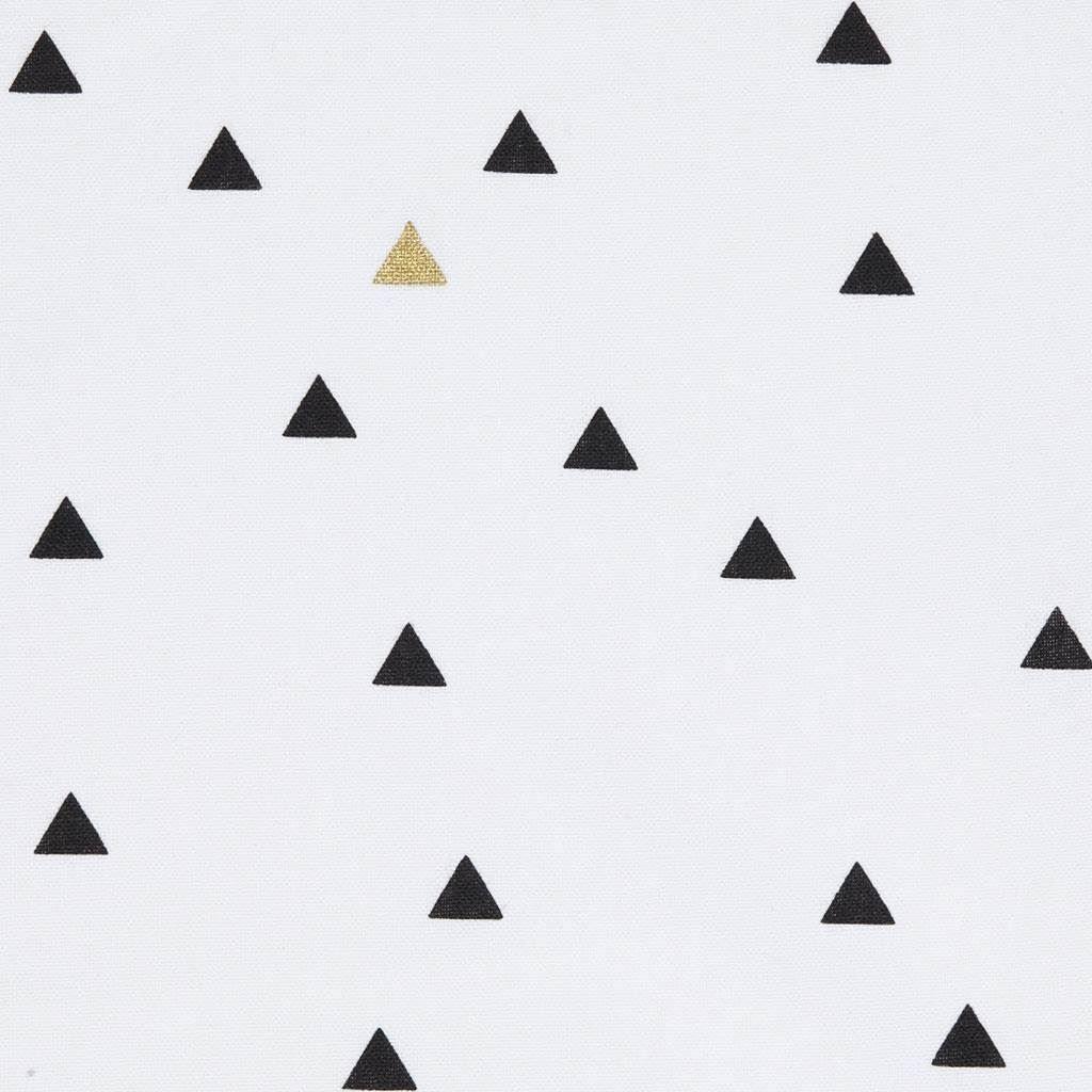 tissu coton pais triangle black and white mondial tissus rideau pour cacher l 39 tag re. Black Bedroom Furniture Sets. Home Design Ideas