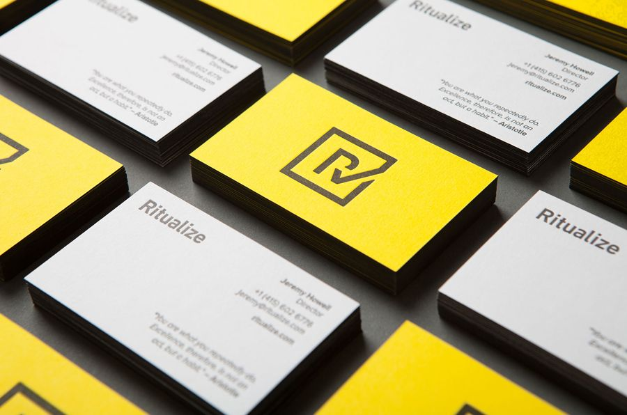 New Logo And Brand Identity For Ritualize By Shorthand Bp O Business Cards Creative Name Card Design Edge Painted Business Cards