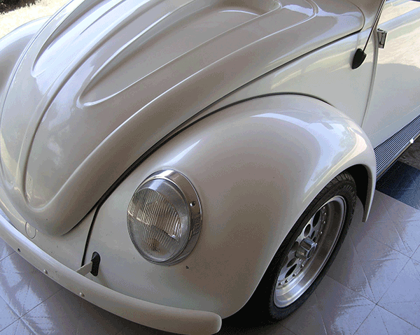 White Bug Silver Crystal Candy Paint Cars Silver Pearls
