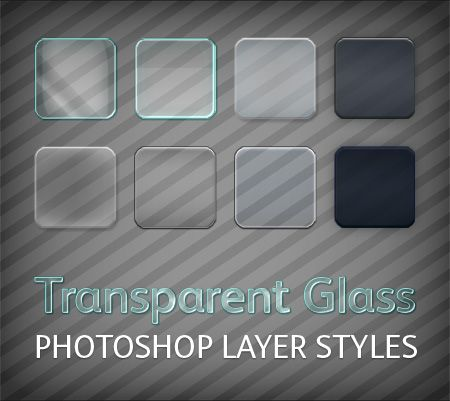 Free Transparent Glass Photoshop Styles Website Design Ideas