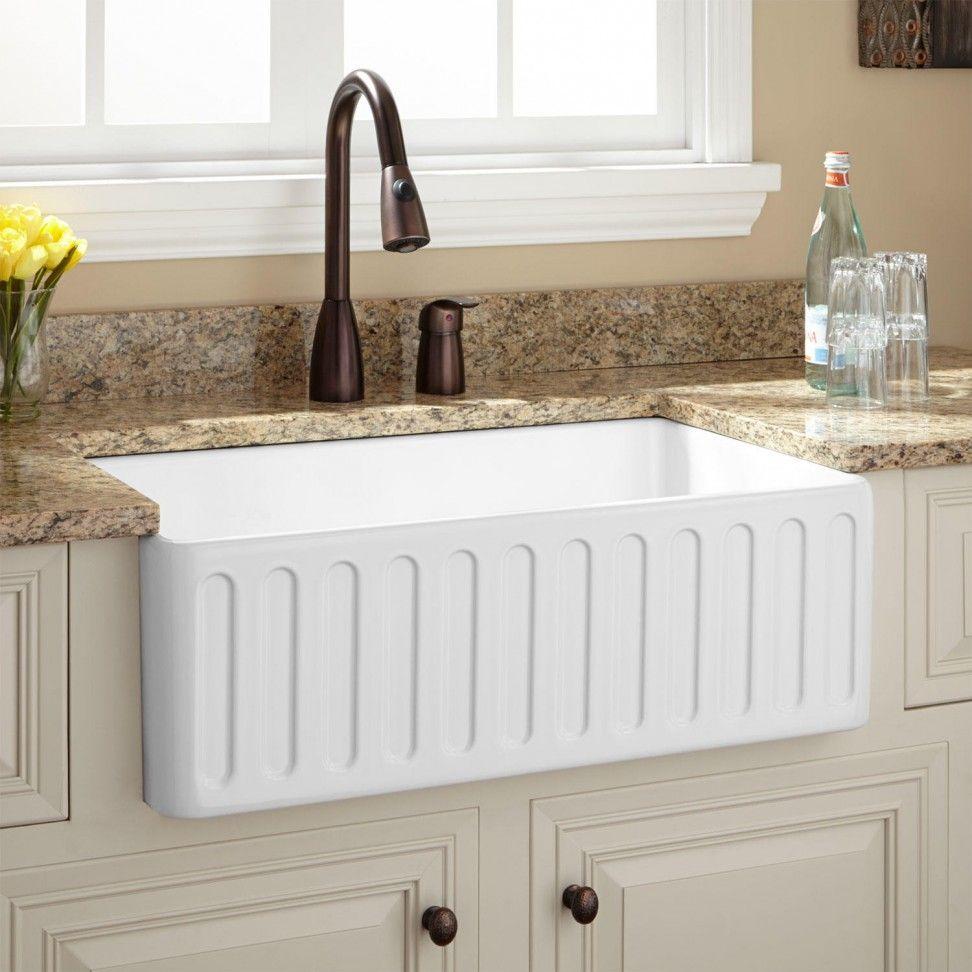 Cool kitchen decor ideas fireclay farmhouse sink