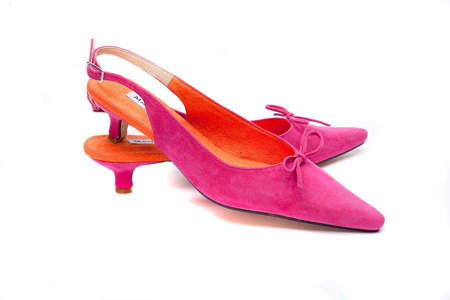 Pink Suede Kitten Heels - Boot Hto