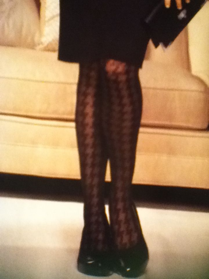 Sheer Houndstooth Tights @ Lane Bryant, LOVE!!