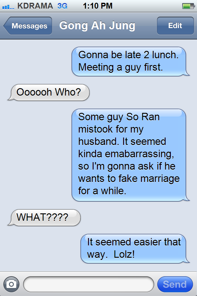 KDrama Fighting! : Kdramas in the Real World: Texts to a Bestie  Lie to Me--that was my very first drama!