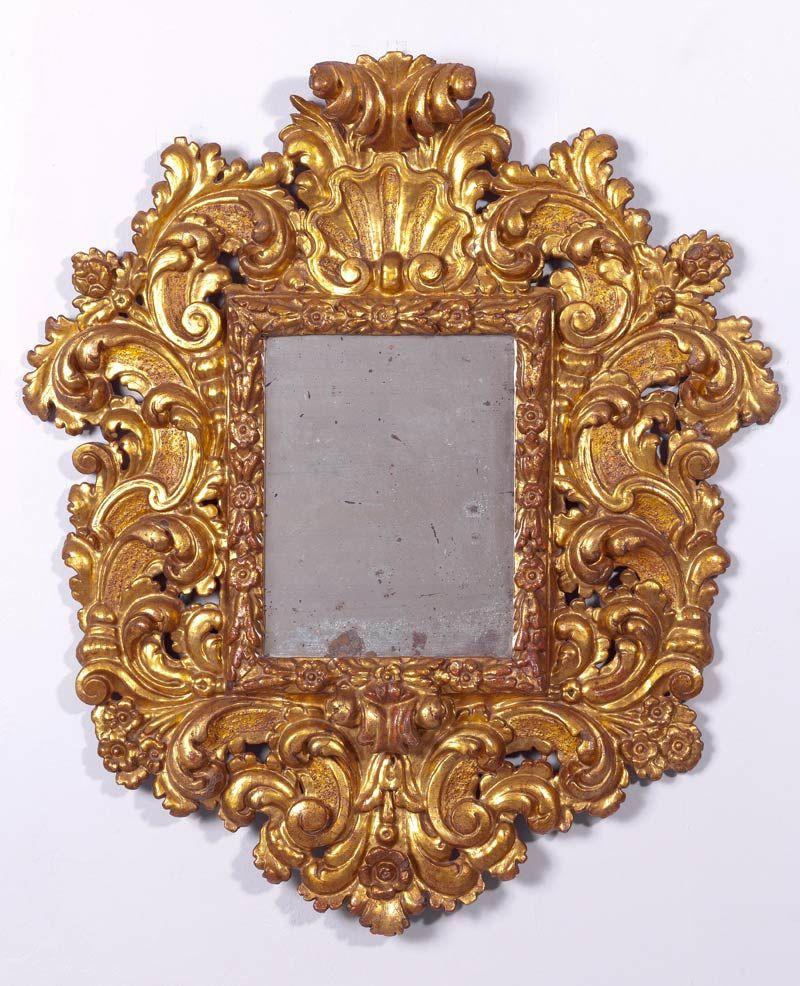 Trabajo espa ol pps del s xviii espejo barroco de madera for Espejo barroco