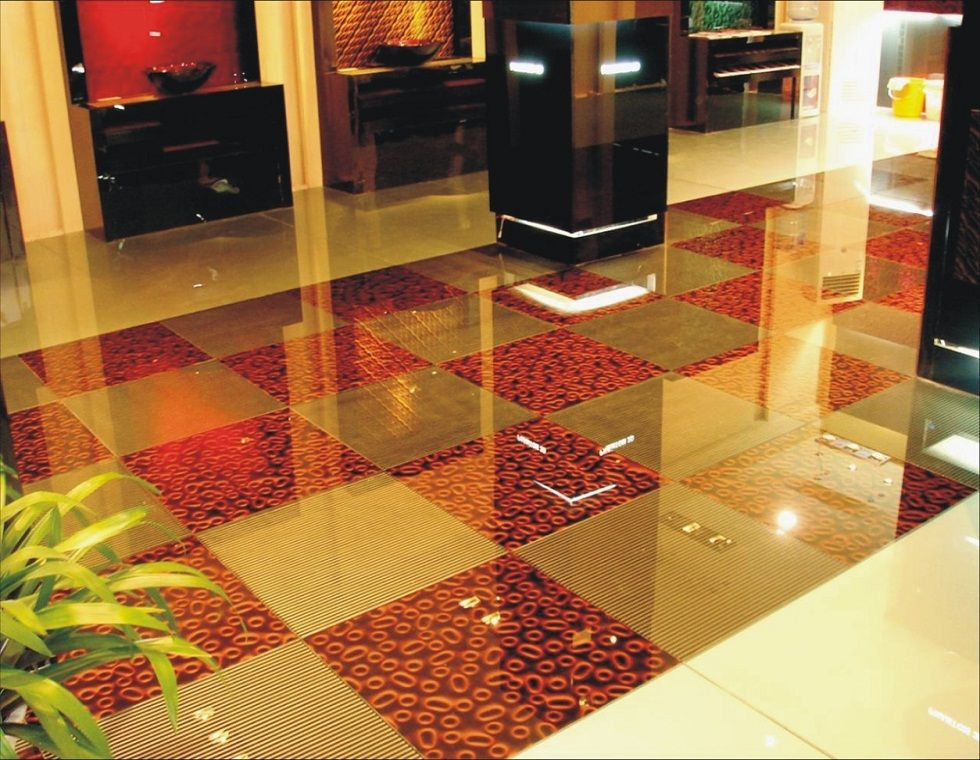 phantom glass tiles also could be used as flooring