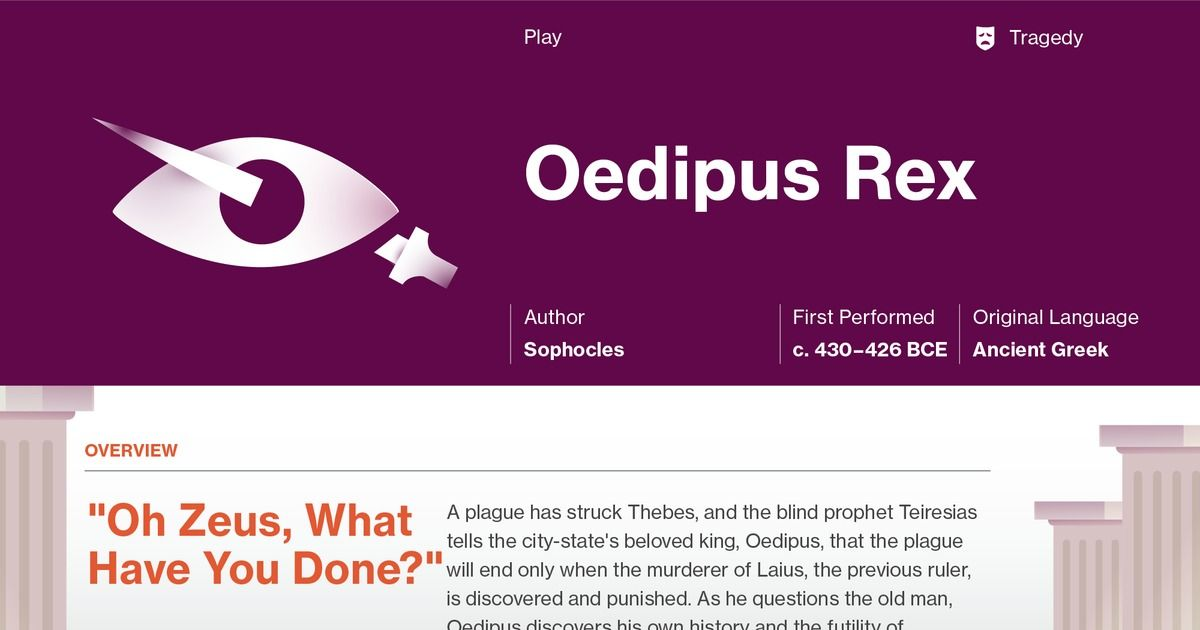 This Study Guide And Infographic For Sophocless Oedipus Rex Offer