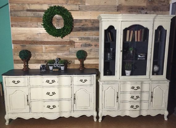 Buffet Küchenschrank ~ French provincial buffet hutch set by anabellcshabbychic on etsy