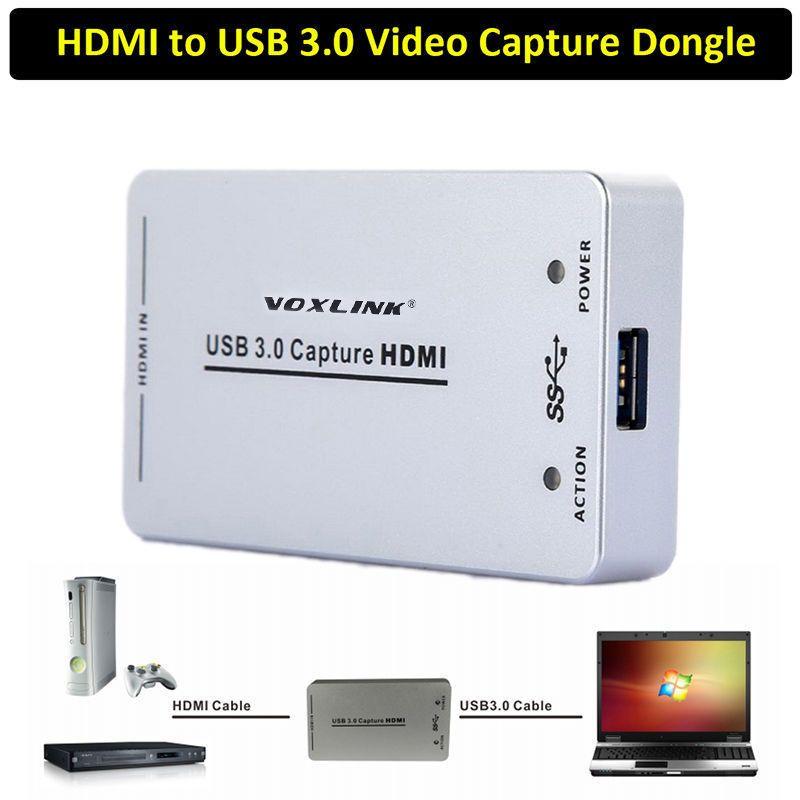 VOXLINK XI100D 1080P 60FPS UVC USB 3 0 HDMI Capture Dongle