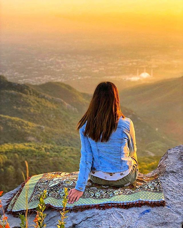 Sehar enjoying the view of Islamabad 🇵🇰 🦋 🌳 -Follow now