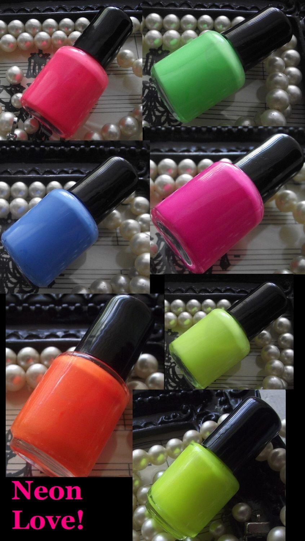 Neon Love Collection Seven Colors of Neon Colors Mini Neon Nails ...