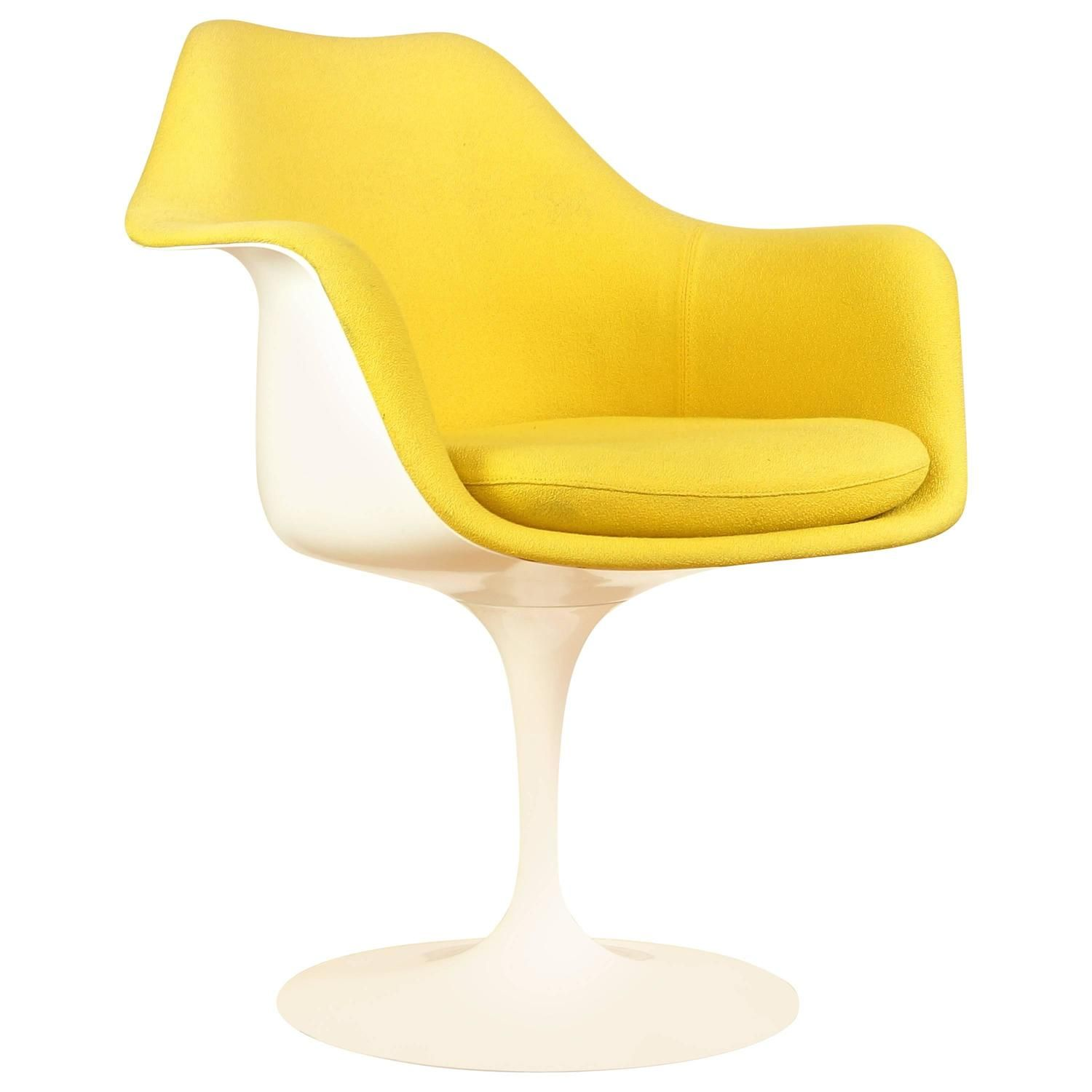 Charmant Vintage Tulip Chair Or Armchair By Eero Saarinen For Knoll, Yellow  Upholstery