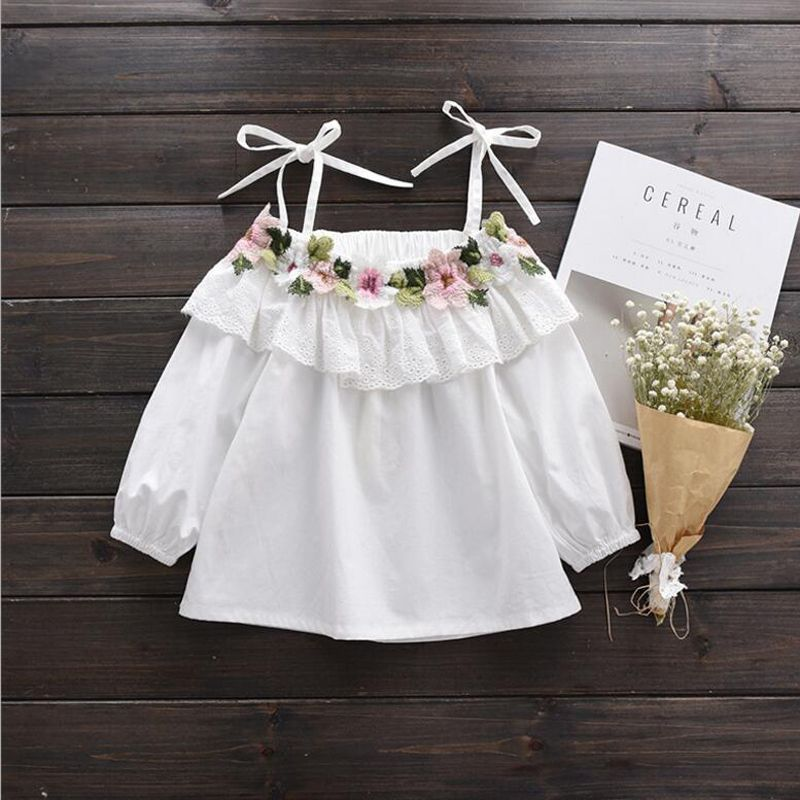 5ef5978a4212 Off The Shoulder White T Shirt Girls Summer Blouse   Price   11.87   FREE  Shipping     kidsledshoes