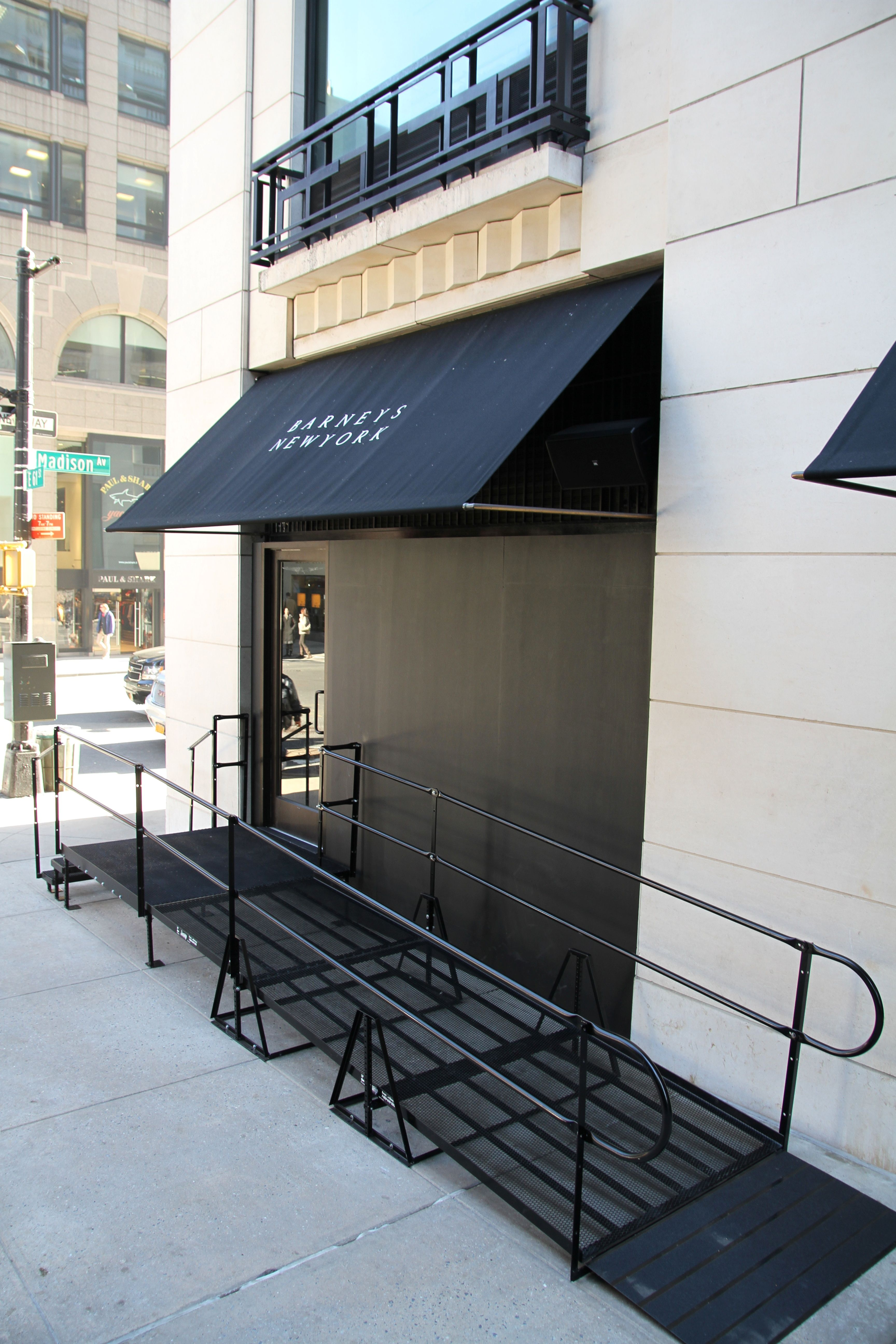 amramp long island installed a wheelchair ramp for barneys ny on