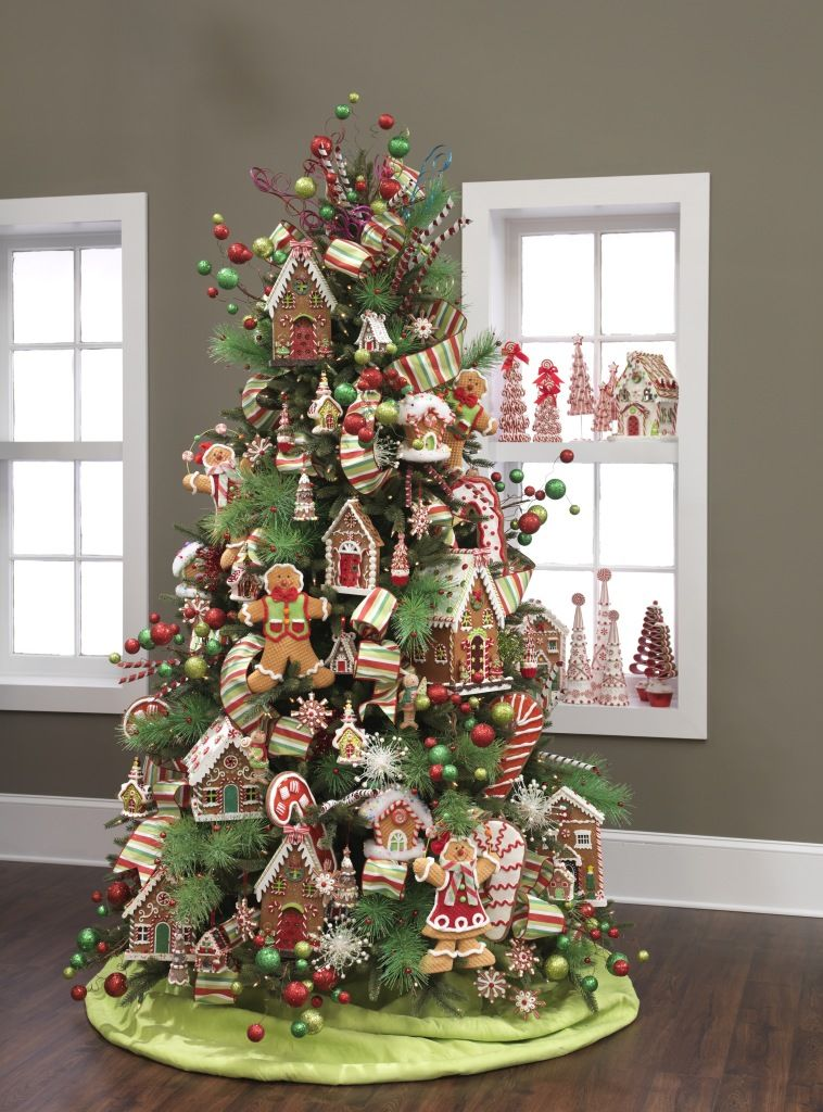 50 Of The Most Inspiring Christmas Tree Designs Gingerbread Christmas Tree Cool Christmas Trees Christmas Tree Topper Decorations
