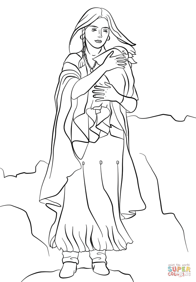 Sacagawea Coloring Page Png 824 1186 Coloring Pages Coloring Pictures Fall Coloring Pages