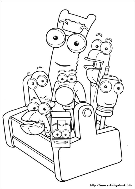find this pin and more on coloring free printable handy manny coloring pages - Handy Manny Colouring Pages