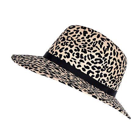 0ace16634 Beige animal print fedora hat #riverisland | Safari & Animal Prints ...