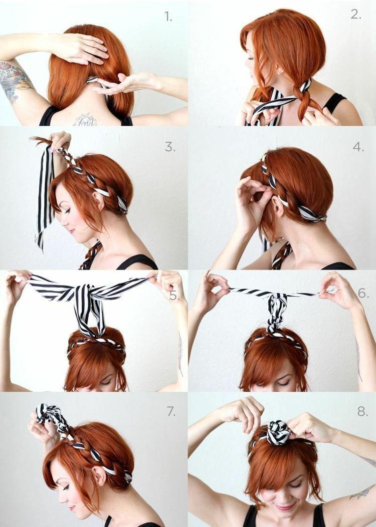 Coiffure Avec Un Bandana Cheveux Coiffures Cool Et Tutoriels Coiffure Avec Headband Coiffure Avec Foulard Coiffure Simple Cheveux Longs