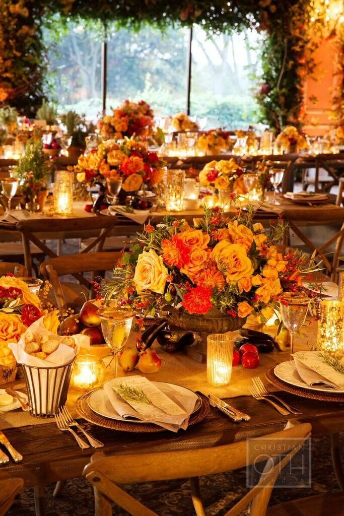 Elegant AutumnThemed New York Wedding at Oheka Castle