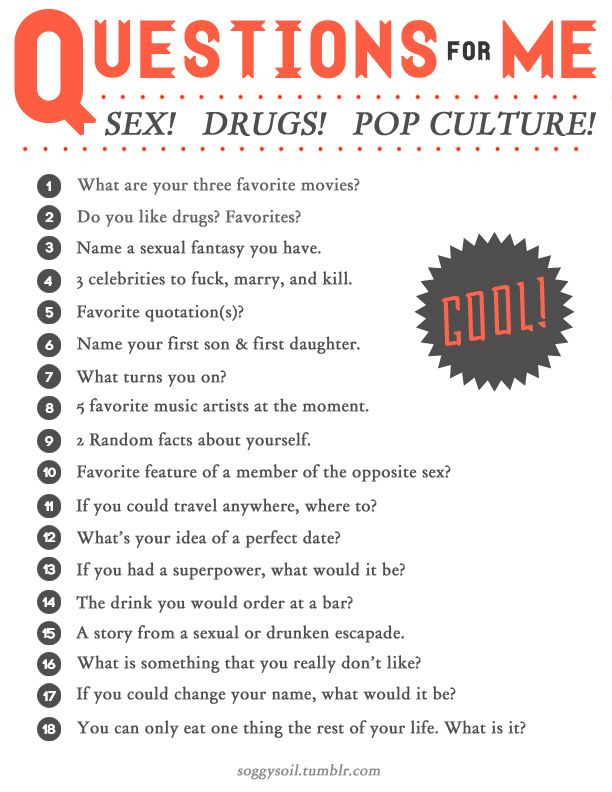20 sex questions to ask a boy