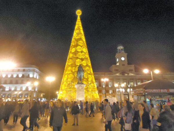 Metal and glass Christmas tree