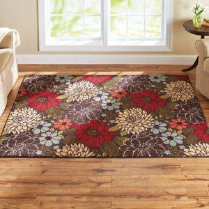 Better Homes And Gardens Sorbet Faux Hook Floral Rug Multi Color