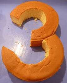 How to make a number 3 cake using 2 round cakes and not a bundt