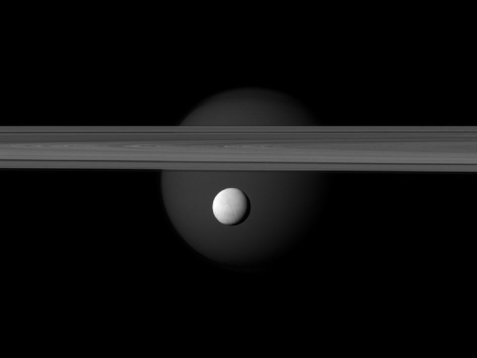 NASA - Saturn's Brightly Reflective Moon Enceladus
