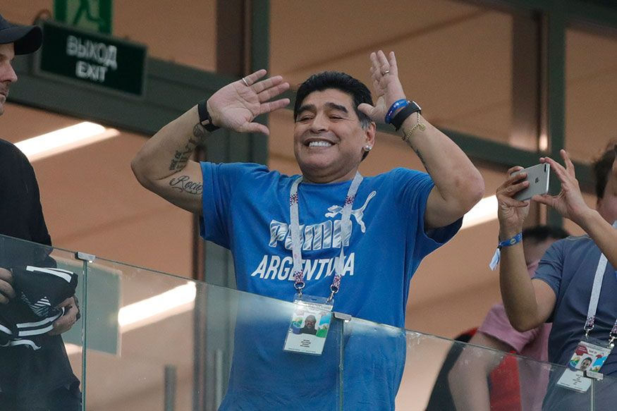 Maradona Recovering in Hospital After Surgery Diego