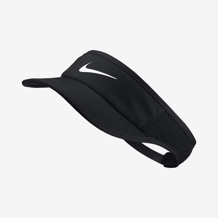 def7f996526b3 nike new golf 727033-010 tech tour visor cap swoosh hat sports fishing -  black one size fishing golf sports leisure men