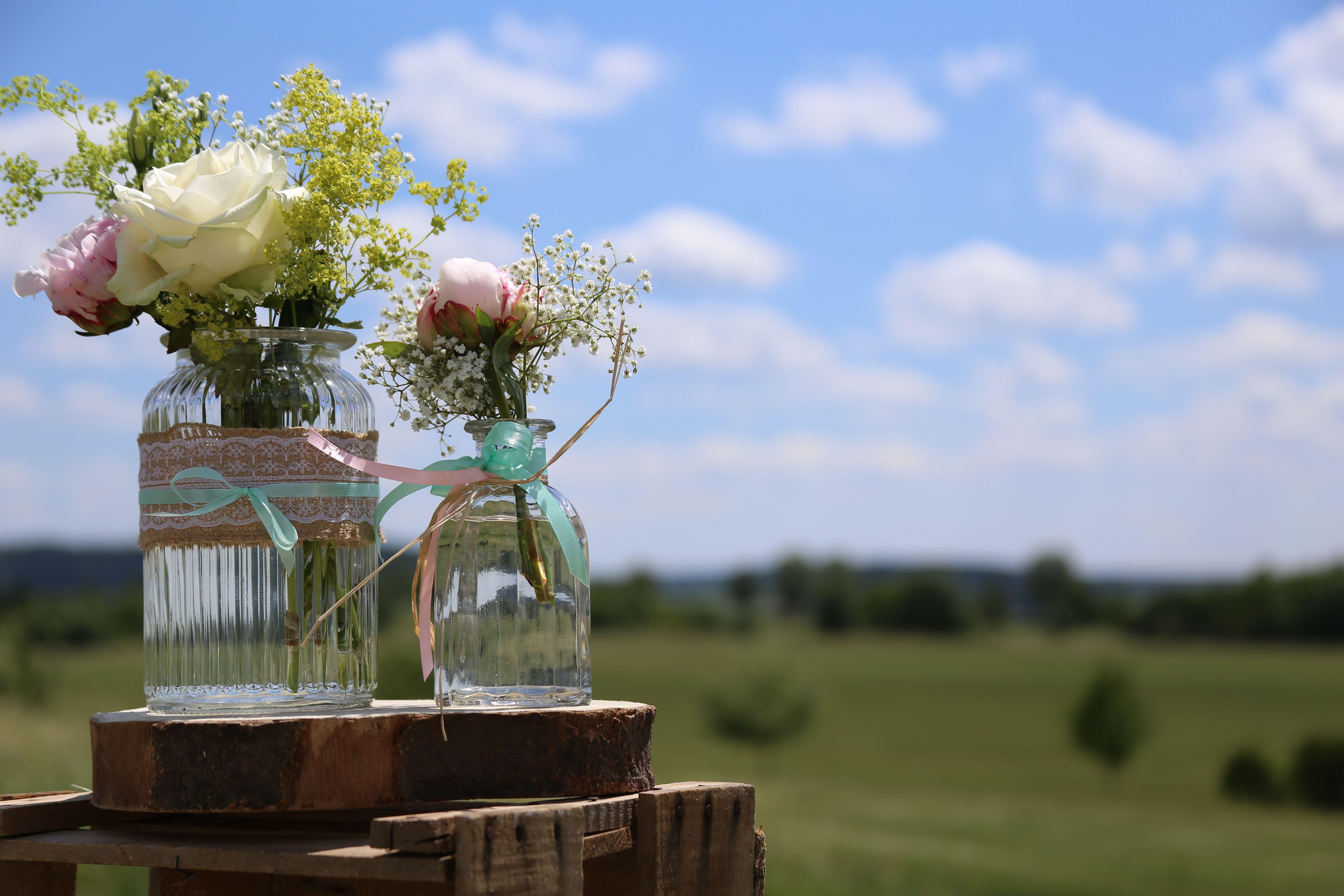 Verleih von Vintage-Vasen im Hochzeitsladen Nürnberg