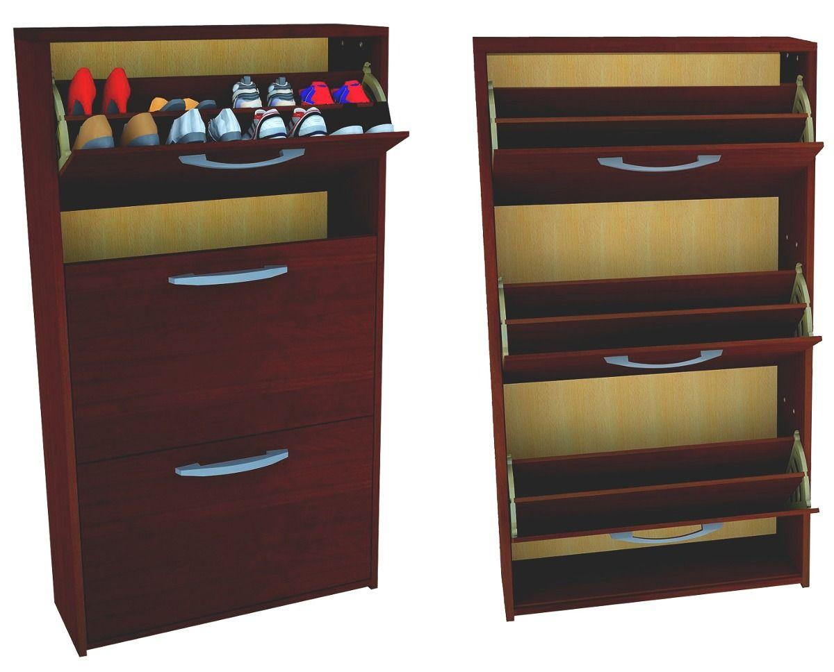 Mueble zapatero botinero organizador de zapatos 18 pares for Mueble estrecho cocina
