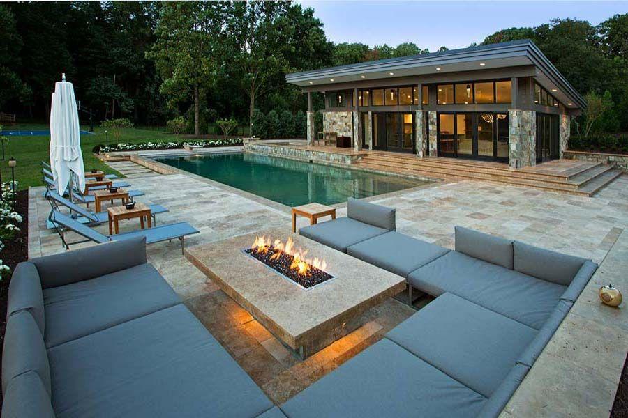 Modern Natural Gas Fire Pit Design Ideas