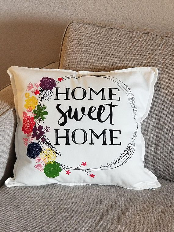 Farmhouse Chic Decorative Pillow Home Sweet Home And Wreath Fixer Magnificent Cottage Style Decorative Pillows