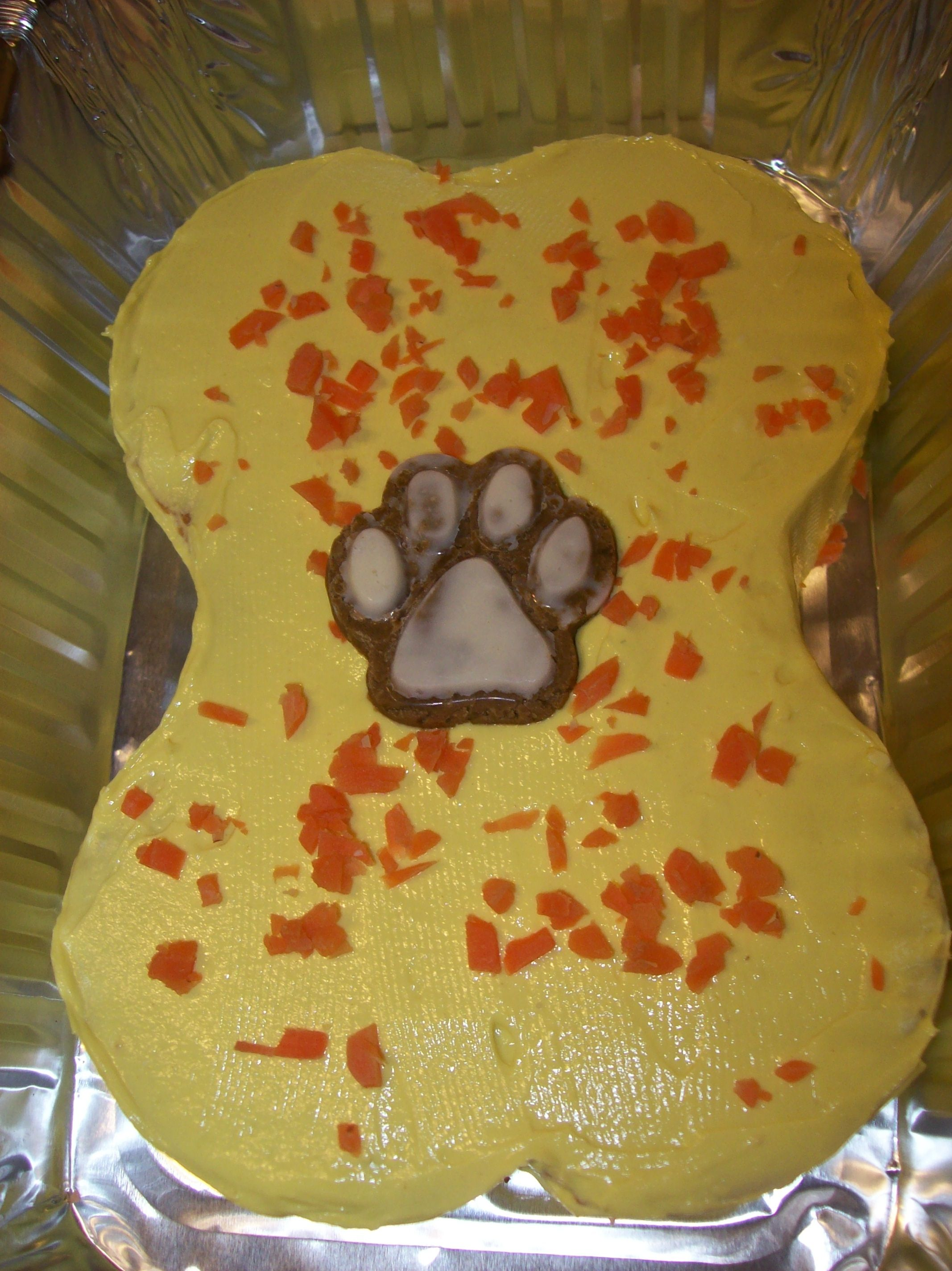 All Natural Doggy Birthday Cake Made With Human Grade Pet Safe Ingredients Right Down To The Carob Dog Paw