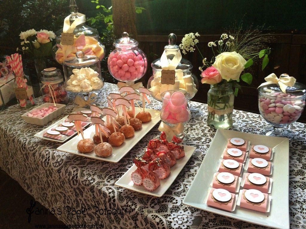 jpp - Vintage Candybar weiß rosa / Hochzeit / wedding / sweets table ...