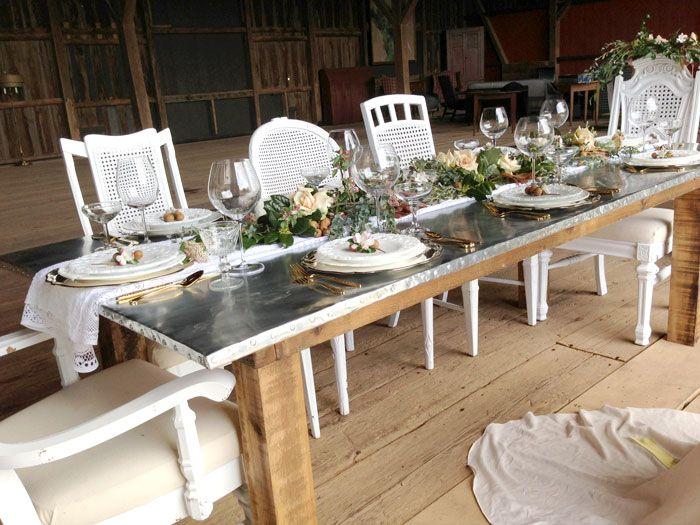 Bon Zinc Farm Table For Rent Washington Dc Virginia Maryland