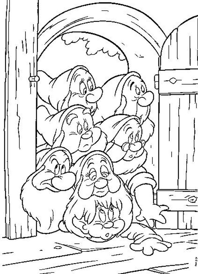 Snow White And The Seven Dwarfs 1937 Tekening Pinterest