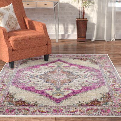 "Photo of Bungalow Rose Alpharetta Pink Area Rug Rug Size: Rectangle 6'7"" x 9'6"" – Products"