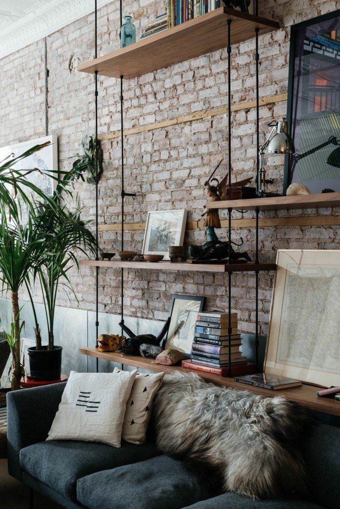 top mille et une ides pour le salon style industriel en. Black Bedroom Furniture Sets. Home Design Ideas