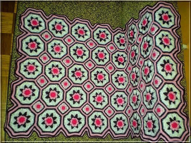 Excepcional Crochet Patrones Manta Afganos Motivo - Ideas de ...