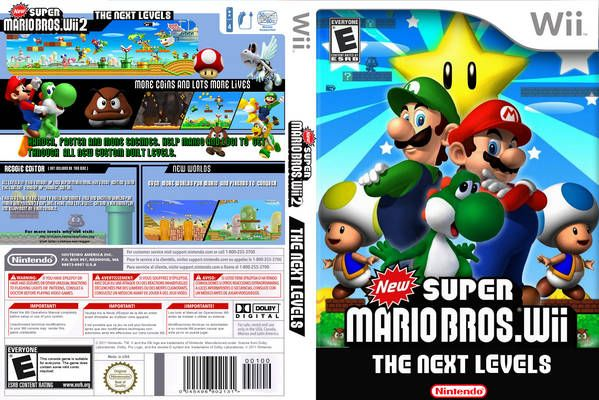 New Super Mario Bros Wii 2 The Next Levels N Front Wii Cover Super Mario Bros Wii Mario Bros