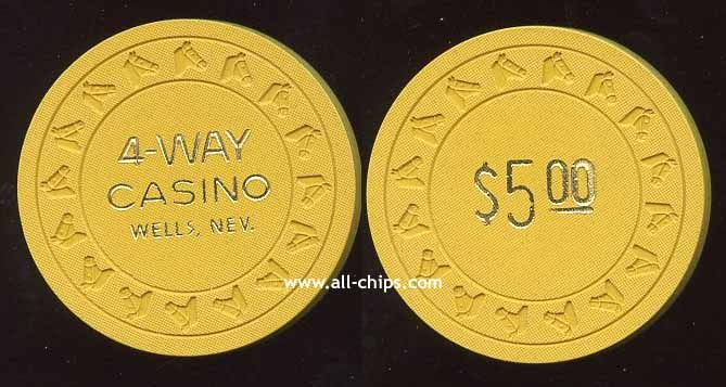 $5 4-Way Casino 2nd issue 1980s