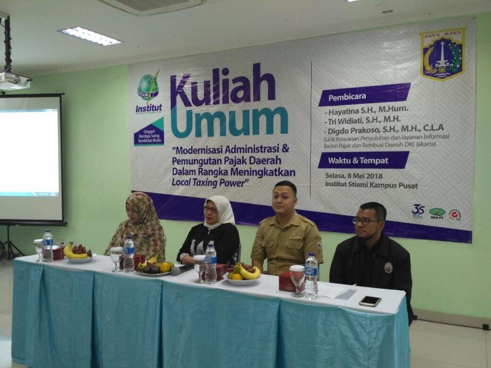 Kuliah Umum Pajak Institut Stiami Jakarta Bprdjakarta Kuliahumum Pajak Retribusi Uppli Pajakjakarta Dkijakarta